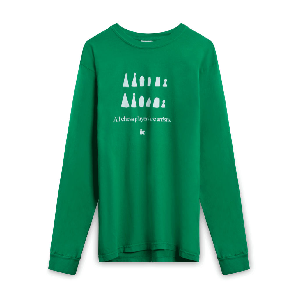 All Chess Players are Artists Long-Sleeve - Green