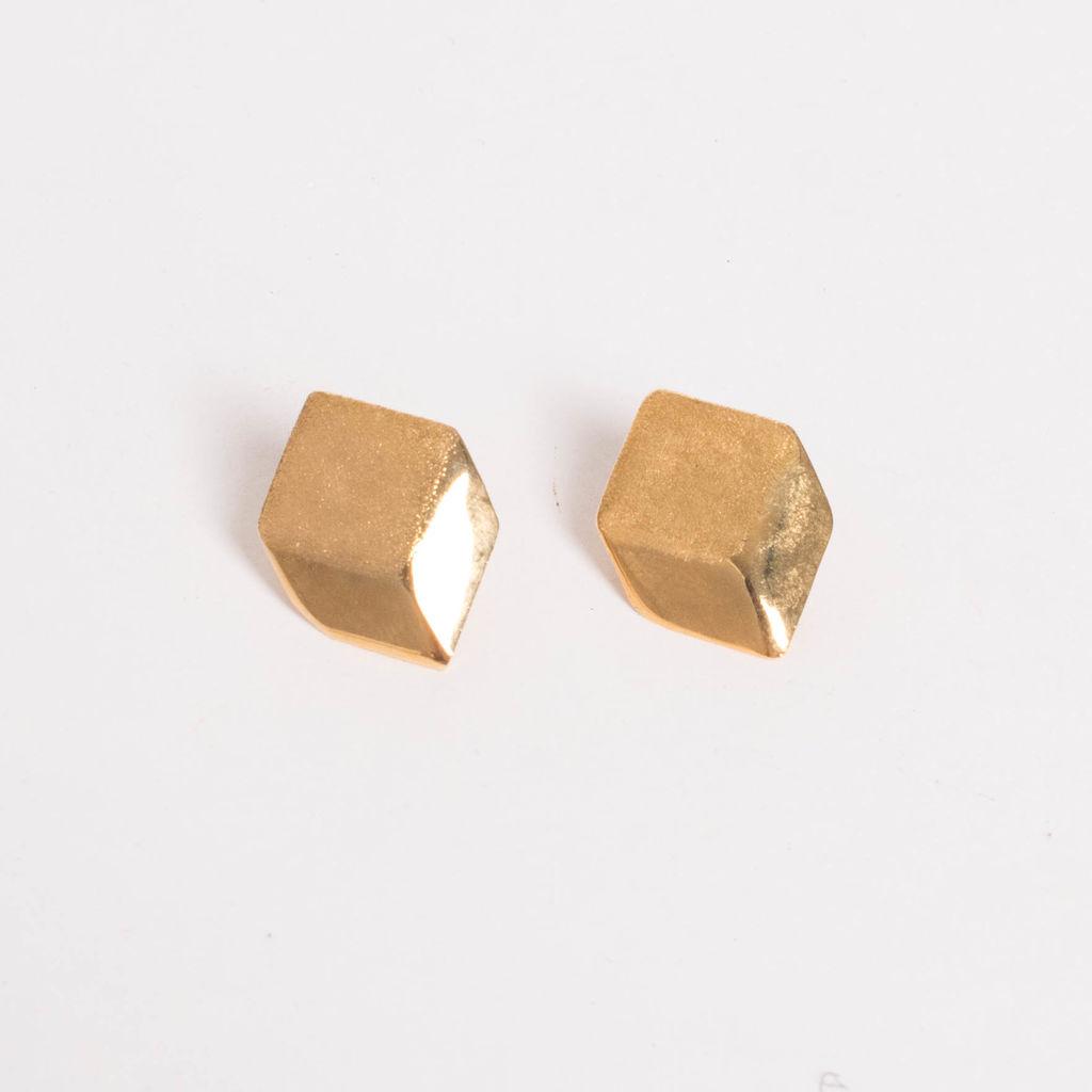 Vintage Two Tone Geometric Earrings