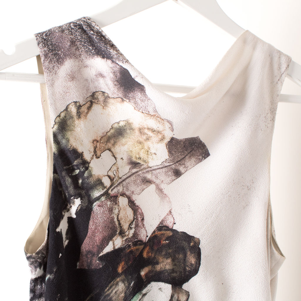 Helmut Lang Carrion Print Crepe Dress
