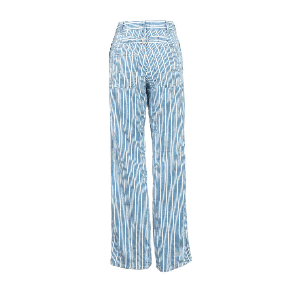 Closed Kathy Striped Straight Leg Jeans