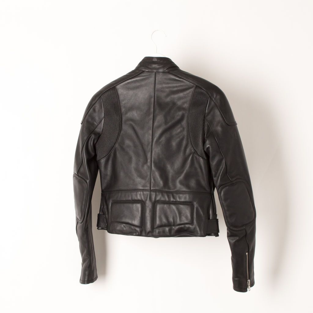 Faith Connexion Removable Overlay Front Padded Leather Jacket