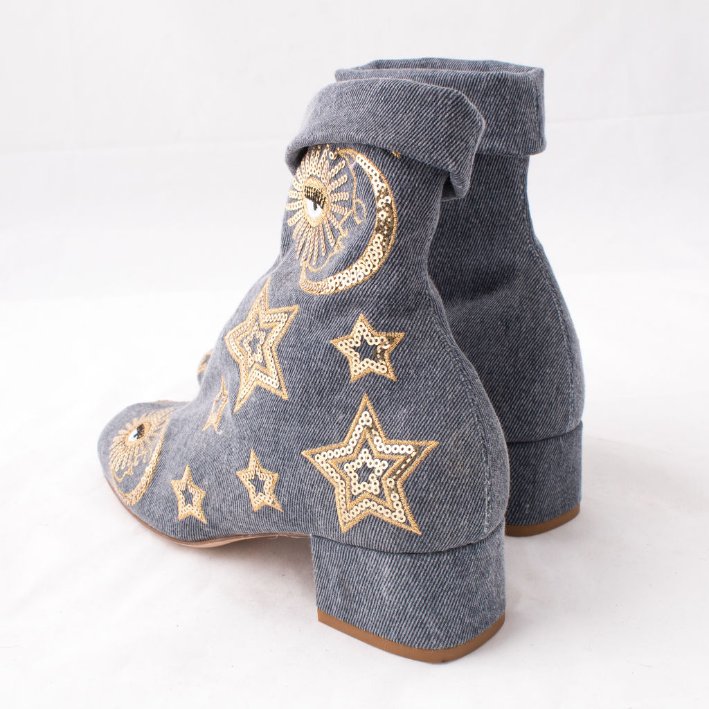 Chiara Ferragni Denim Ankle Boot