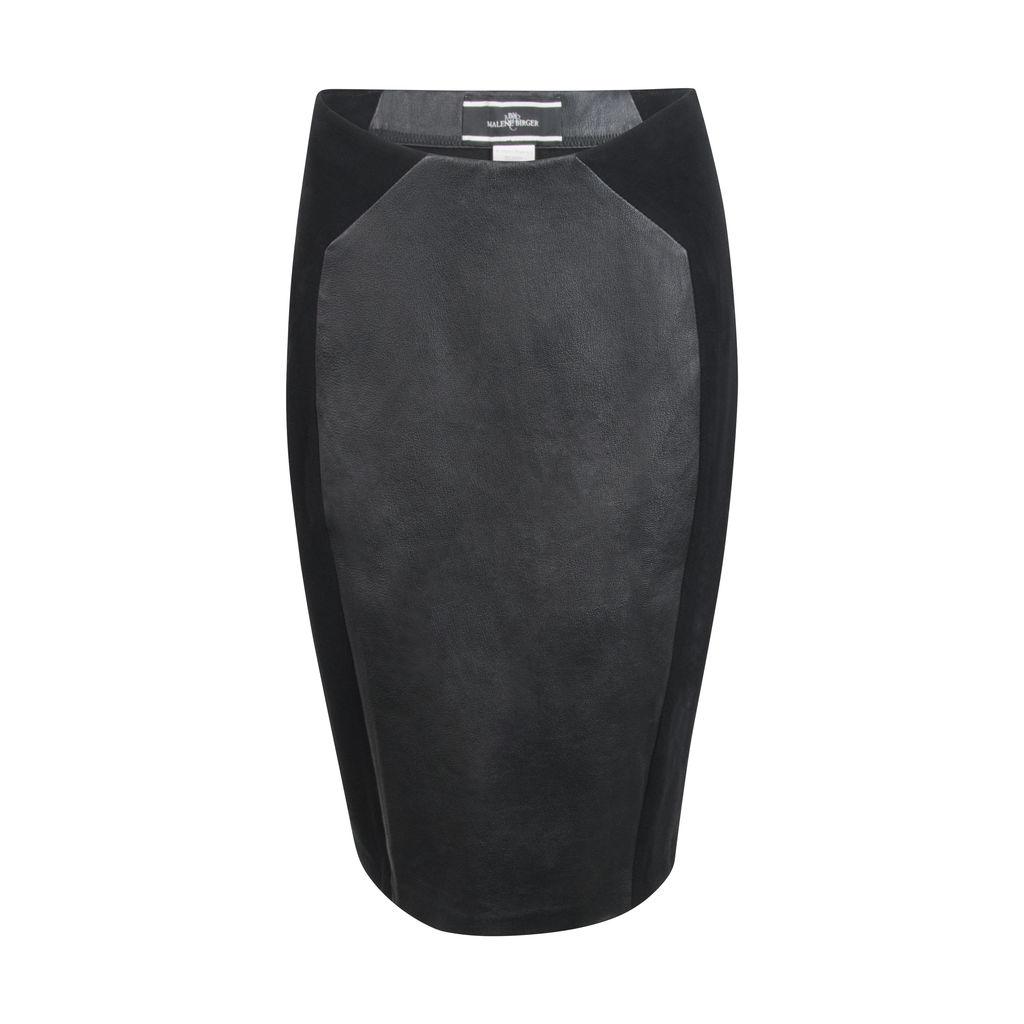 Malene Birger Leather Panel Pencil Skirt