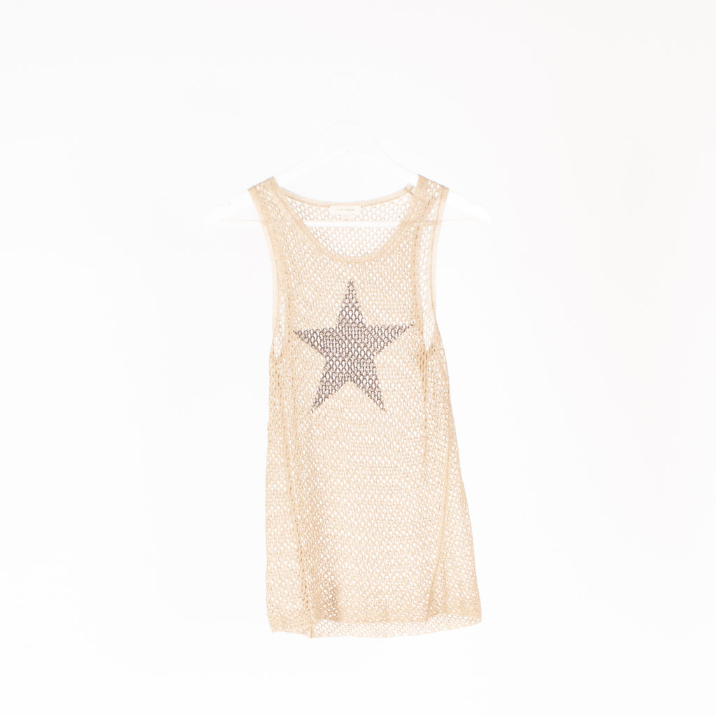 Marc Jacobs Mesh Star Print Tan