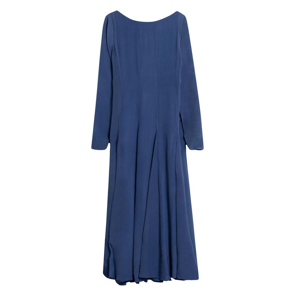 Azeeza Deep V-Back Maxi Dress