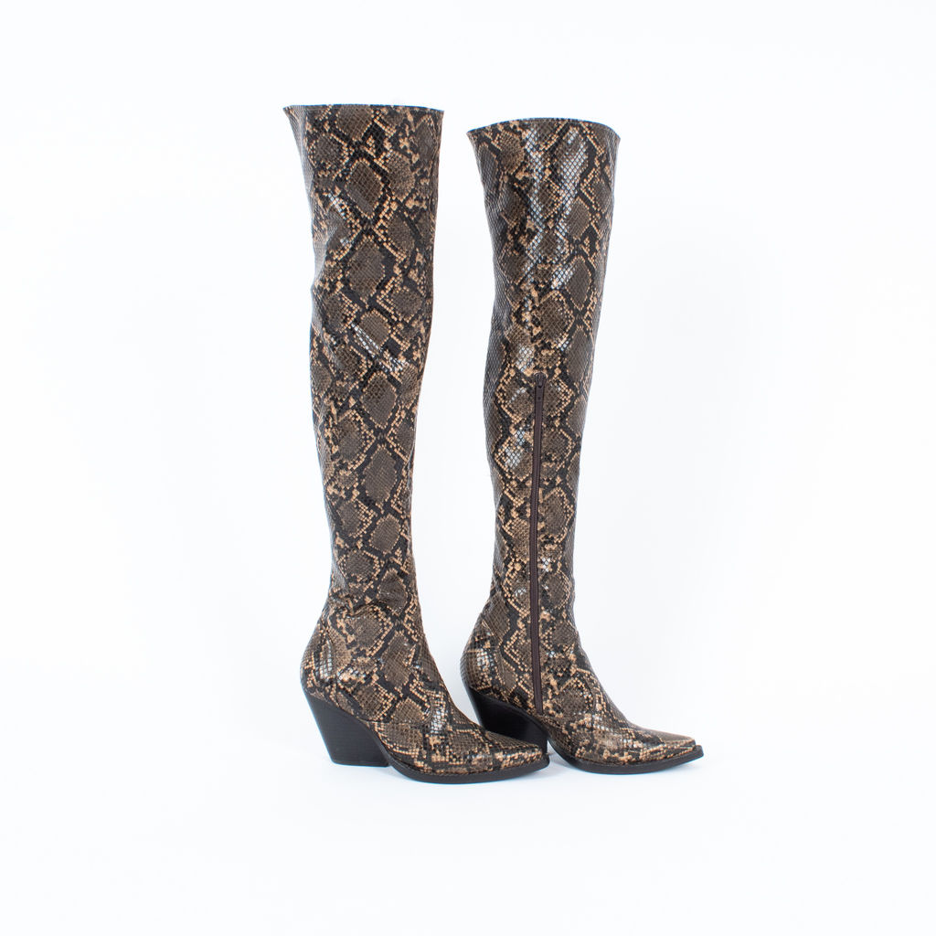 Jeffrey Campbell Snake Skin Boots