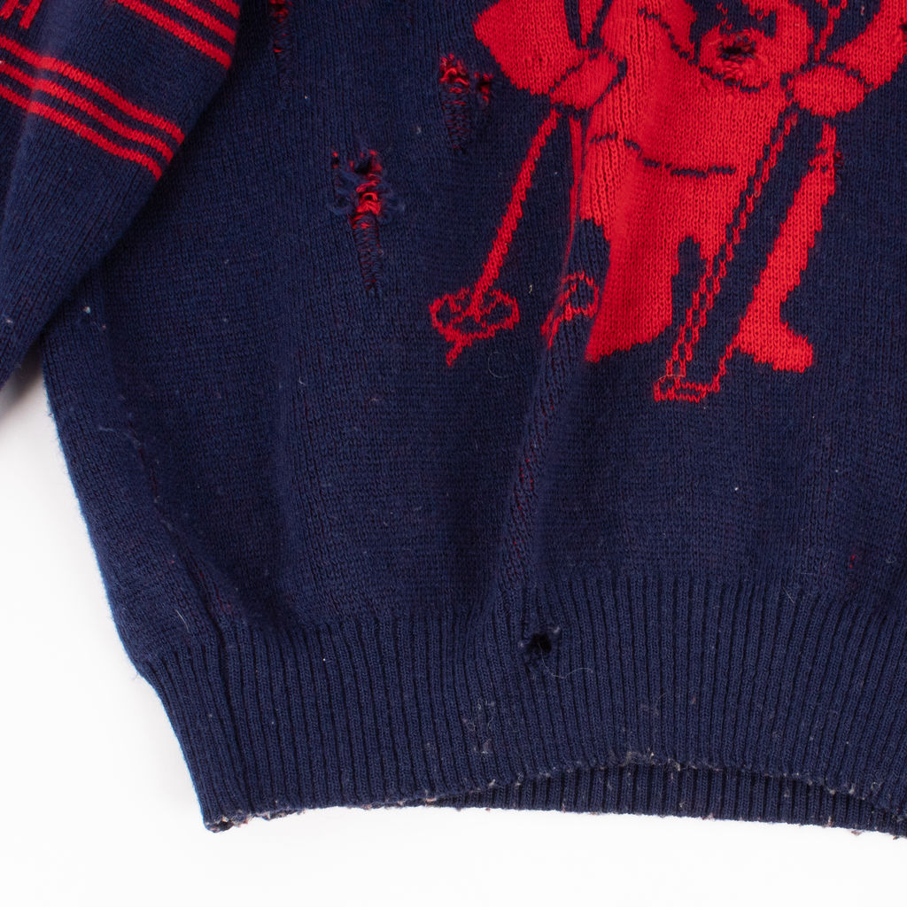 Jac-Tion Sportswear Destroyed Knitted Sweater