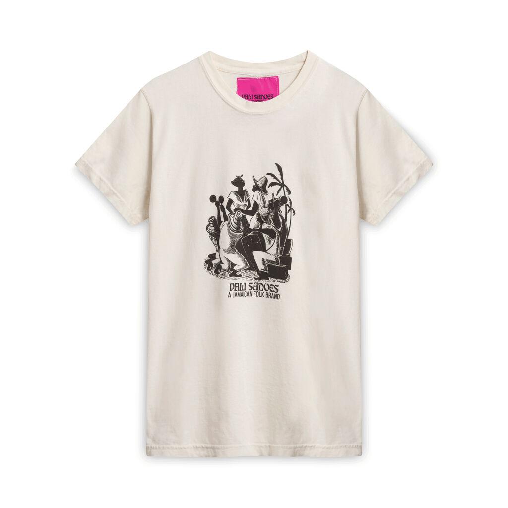 Pali Sadoes Dancing T-Shirt - Off-White