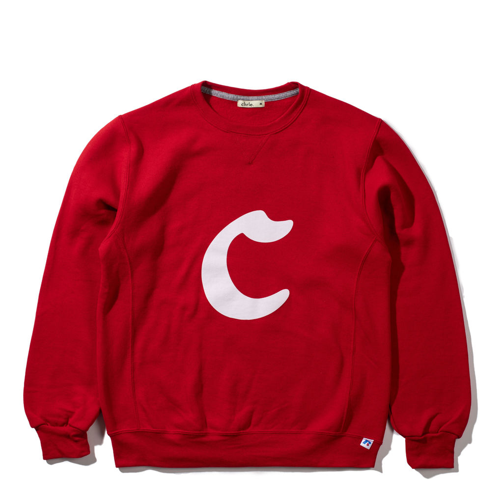 CHRLE. Choosey Lover Big C Cherry Sweatshirt in Red
