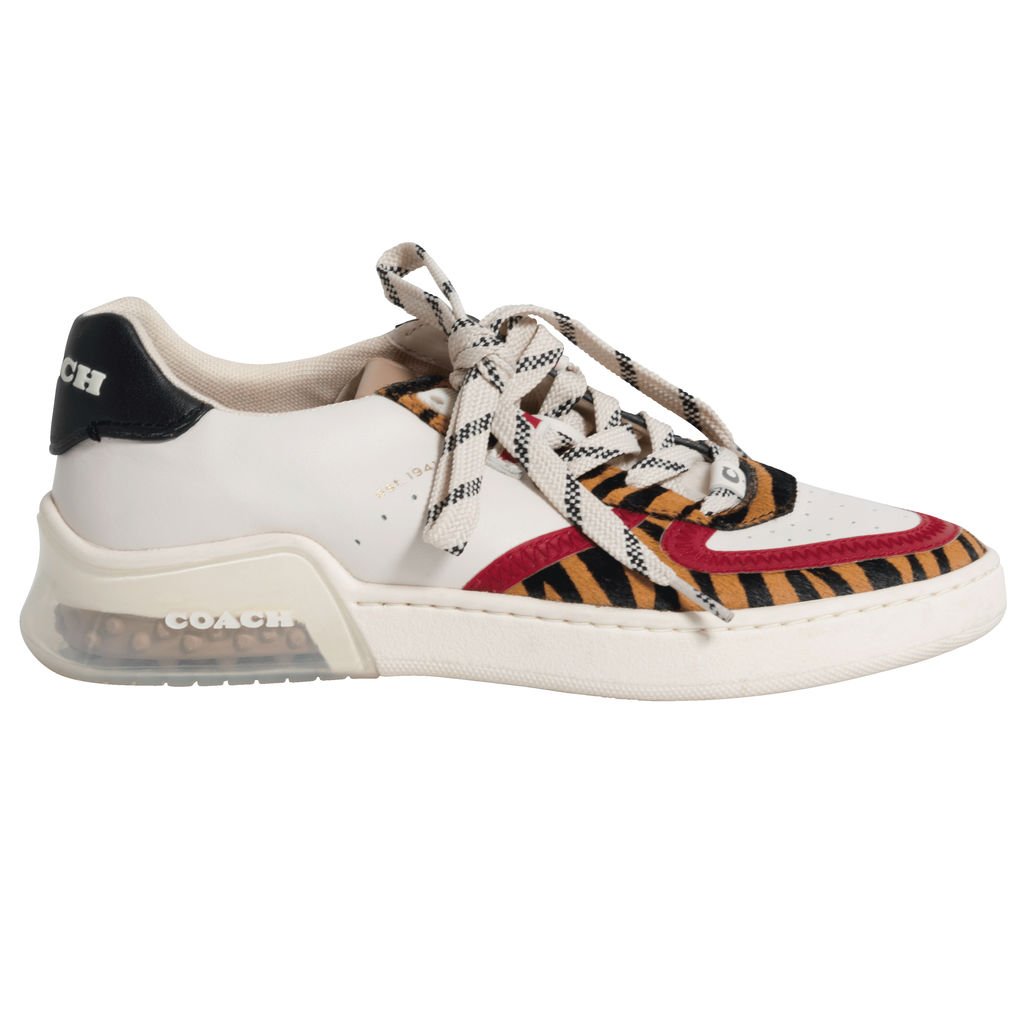 Coach Women's CitySole Court Calf-Hair Low-Top Sneaker