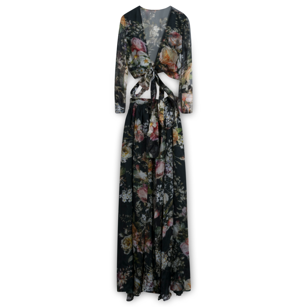 Lurelly Floral Silk Set
