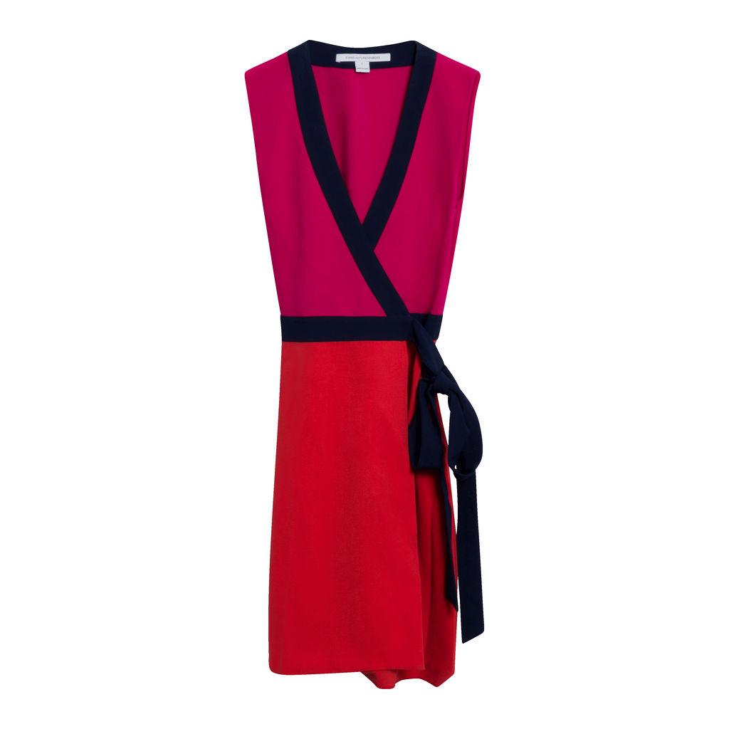 Diane Von Furstenberg Colorblock Dress