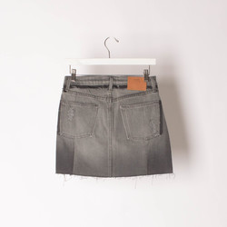 FRAME Grey Denim Skirt curated by Sami Miro