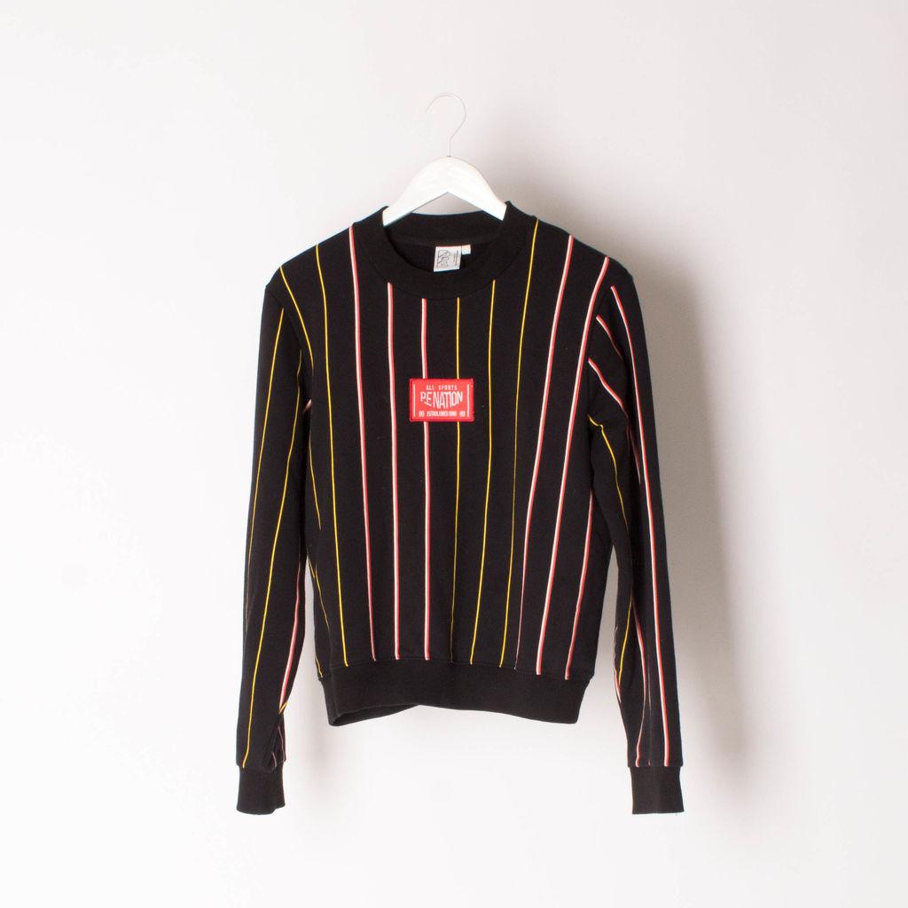 P.E Nation Striped Crewneck Sweater