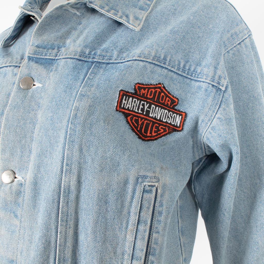 Vintage Harley Davidson Embroidered Denim Jacket