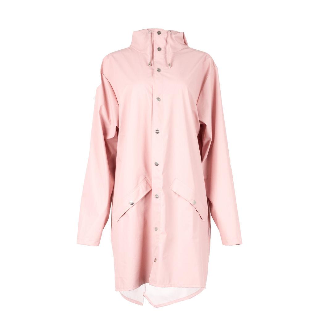 Rains Long Jacket in Rose