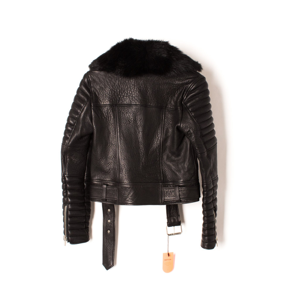 The Arrivals Ranier Quilted Leather Moto Jacket