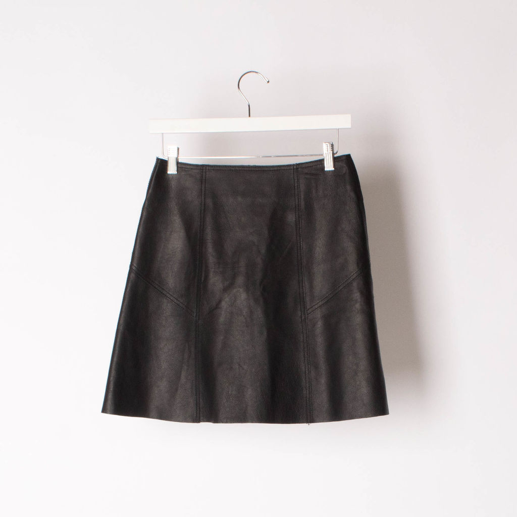 FIFTEEN TWENTY Button up Leather Skirt