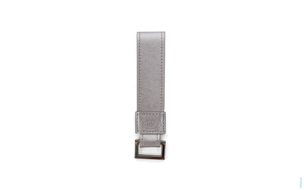 Metalic Pebbled Leather Strap