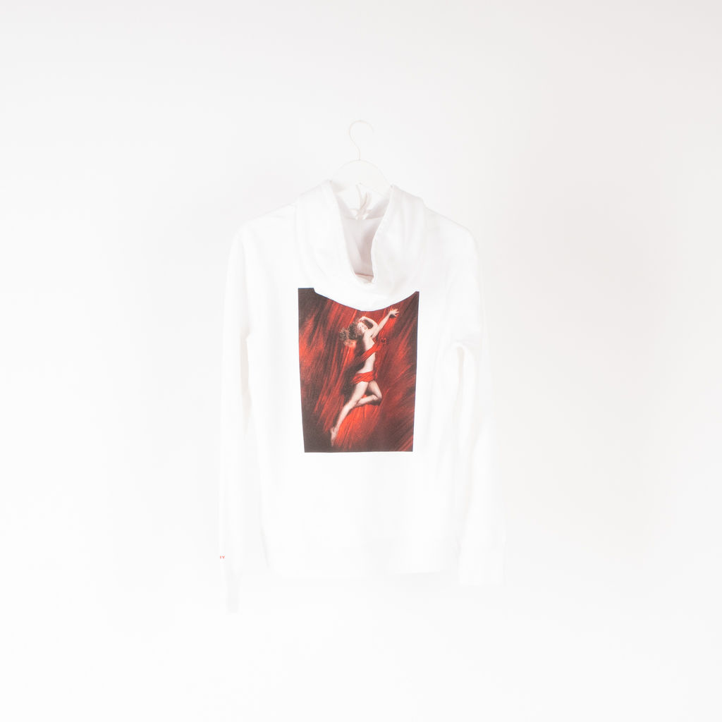 Vision Street Wear Lady In Red Hoodie in White