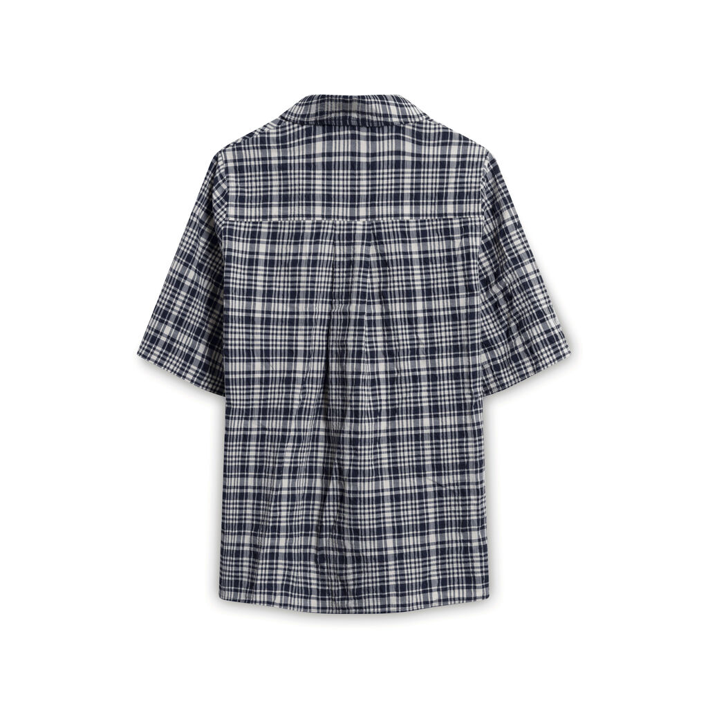 COS Plaid Button-Down Shirt - Blue