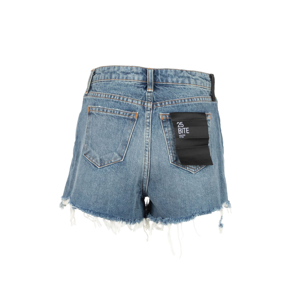 Denim x Alexander Wang High Rise Fitted Bite Shorts