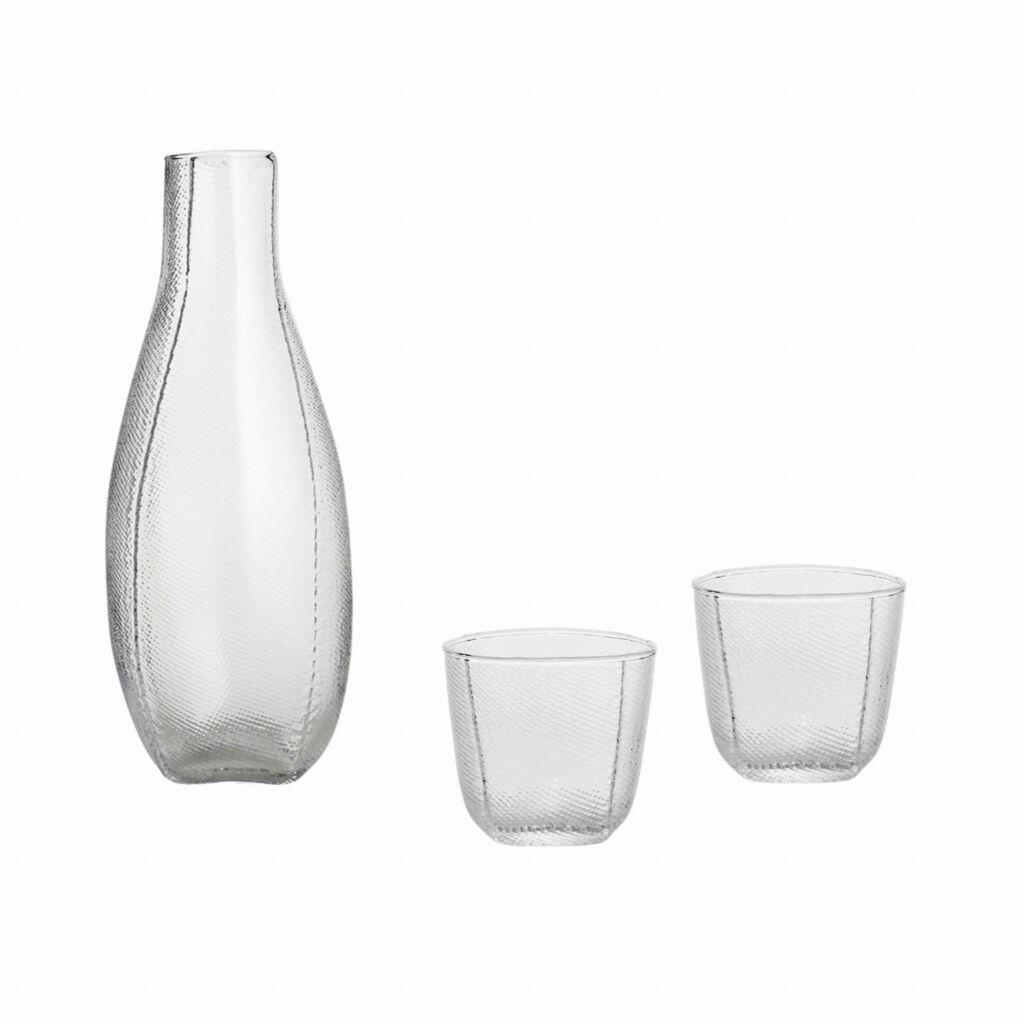 HAY Tela Carafe and two Tela cup set