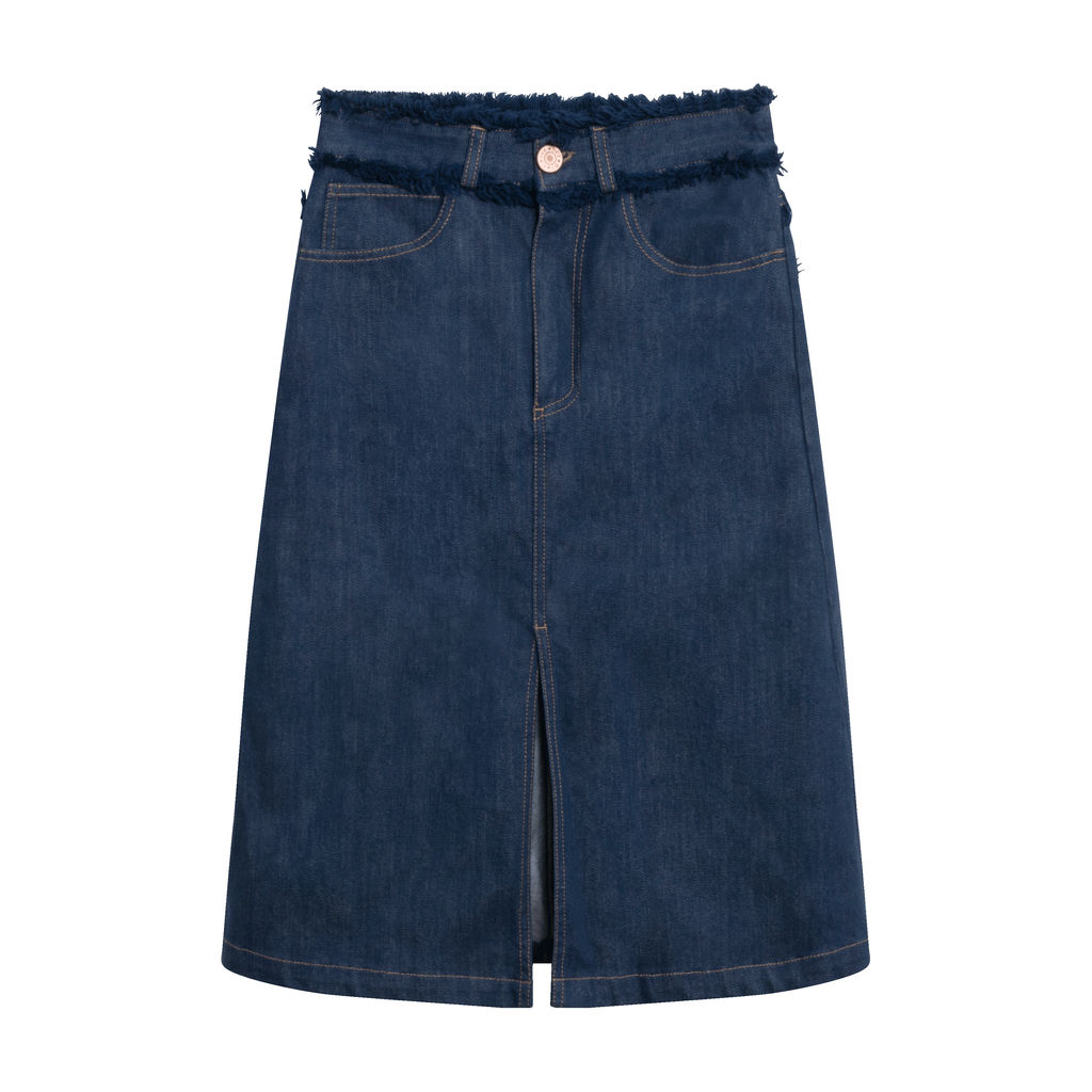 See By Chloé Frayed Denim Skirt