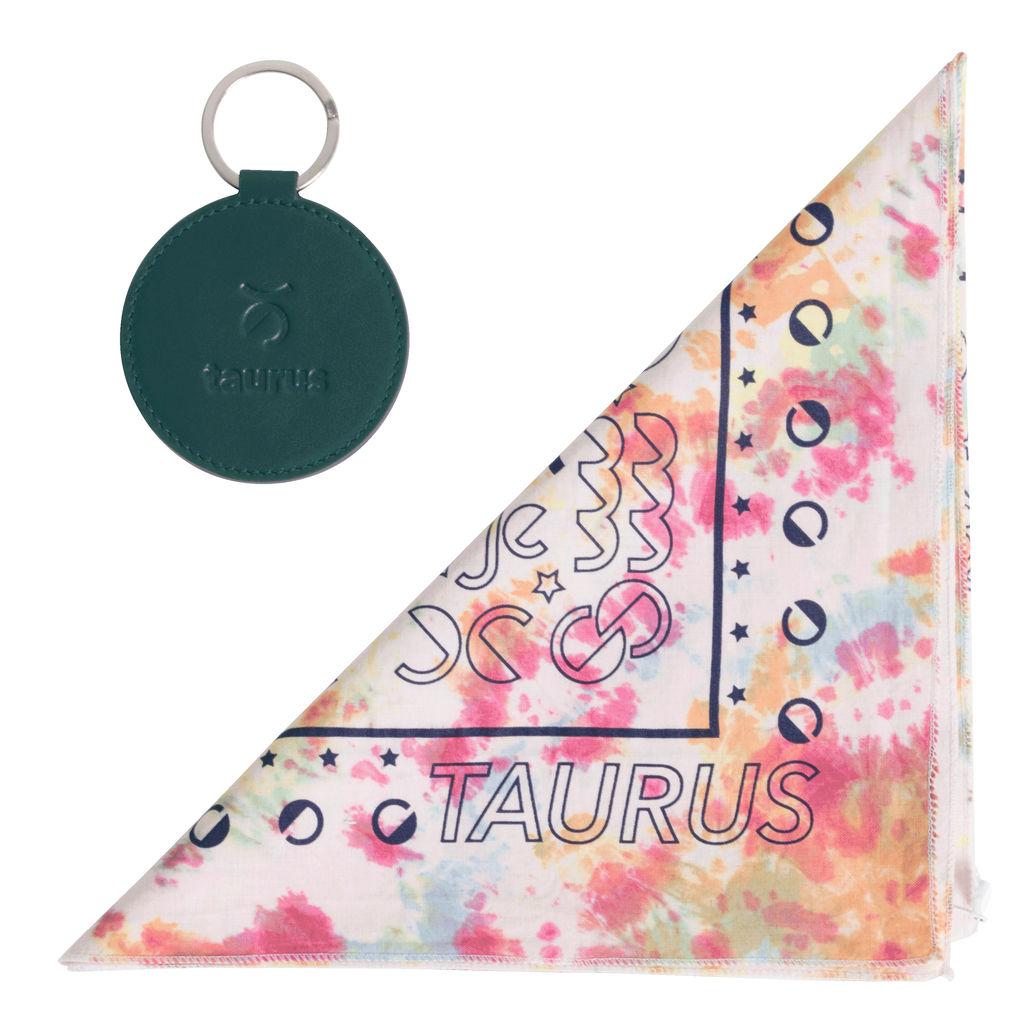 DOOZ Taurus Bandana + Keychain Set in Tie Dye