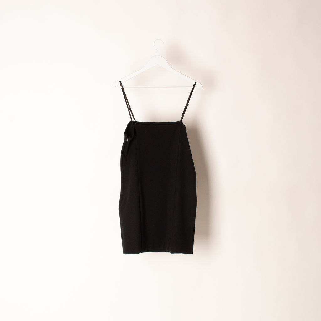 Callipygian Black Mini Dress