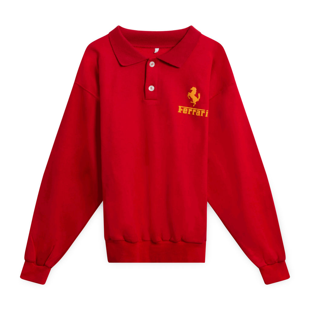 Ferrari Collared Sweatshirt (Red)