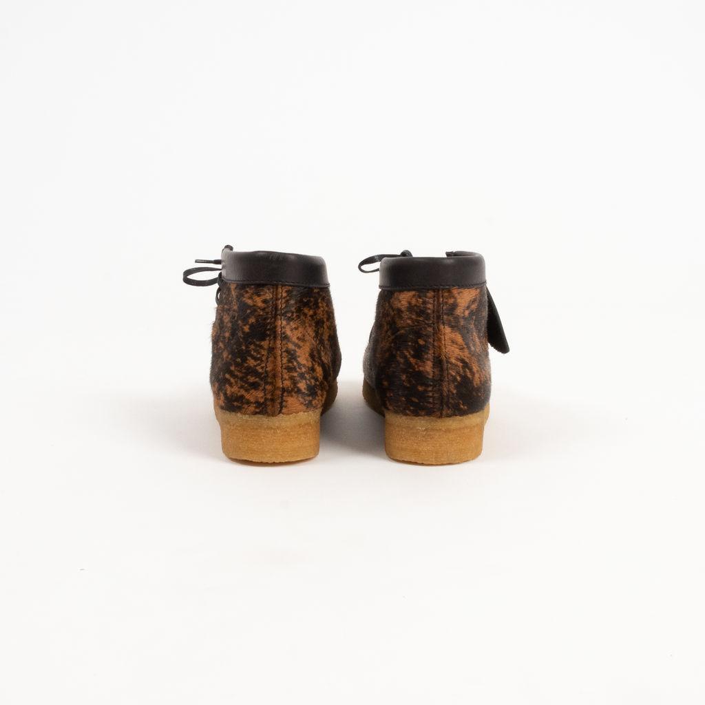 Clarks Wallabee Boot in Premium Hair Tortoise Shell Print