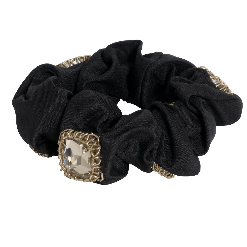 Azeeza Antique Gold Embellished Scrunchie