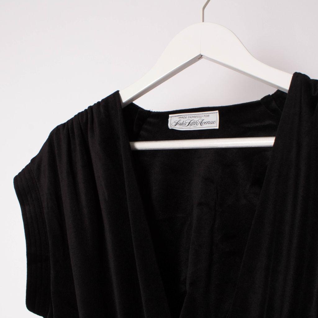 Vintage 70s Made Expressly for Saks Fifth Avenue Velvet Jumpsuit