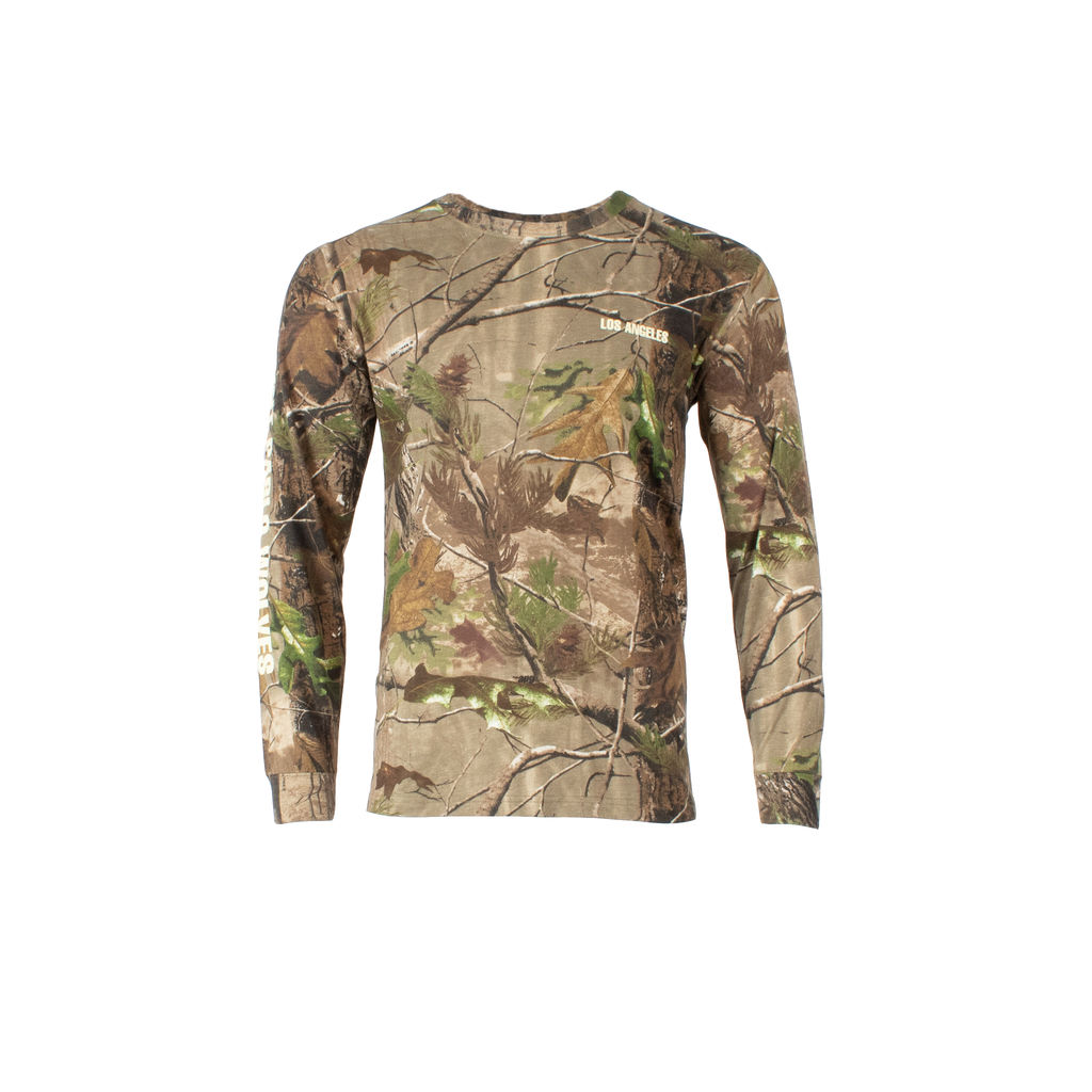 Kanye West Saint Pablo Tour Long Sleeve Shirt in Camo