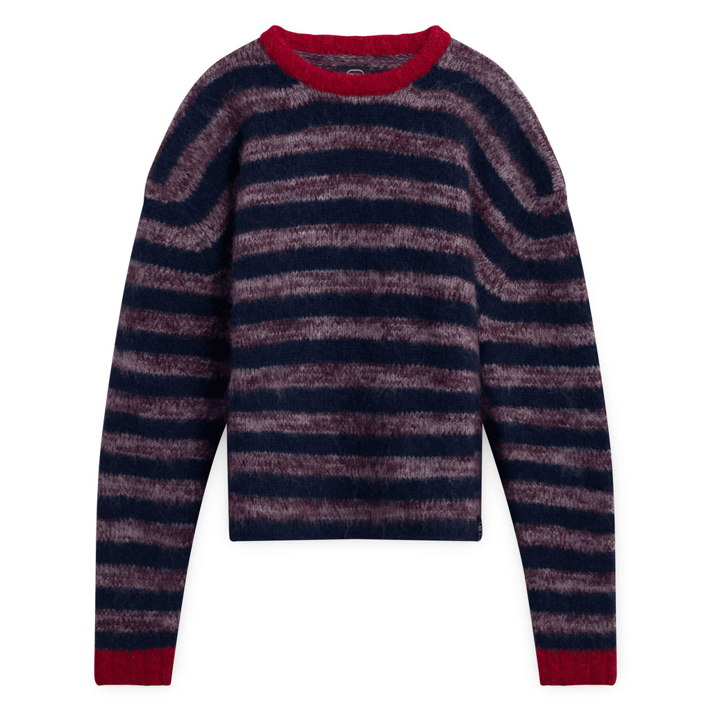 Braindead M Main Peruvian Stripe Knit Sweater
