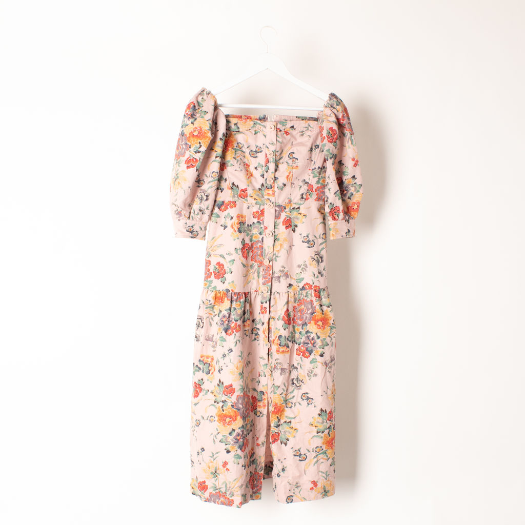 Rebecca Taylor Off-The-Shoulder Marlena Floral Dress