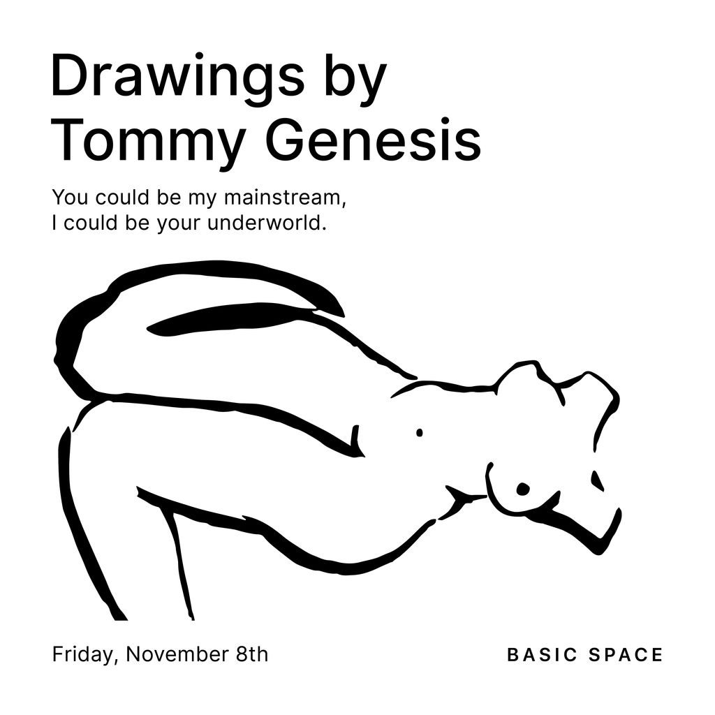 You could be my mainstream, I could be your underworld: Drawings by Tommy Genesis