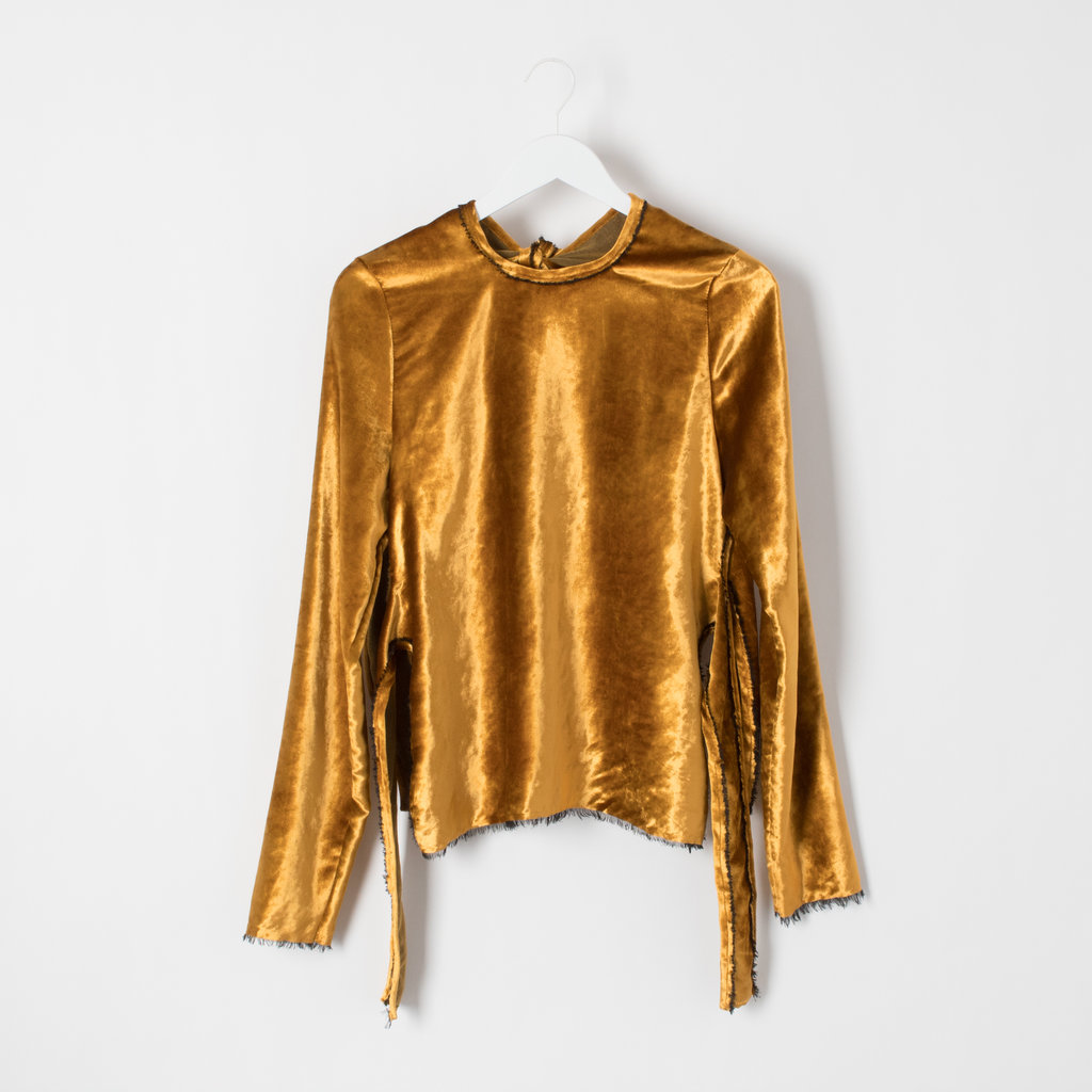 Sid Neigum Backless Velour Top