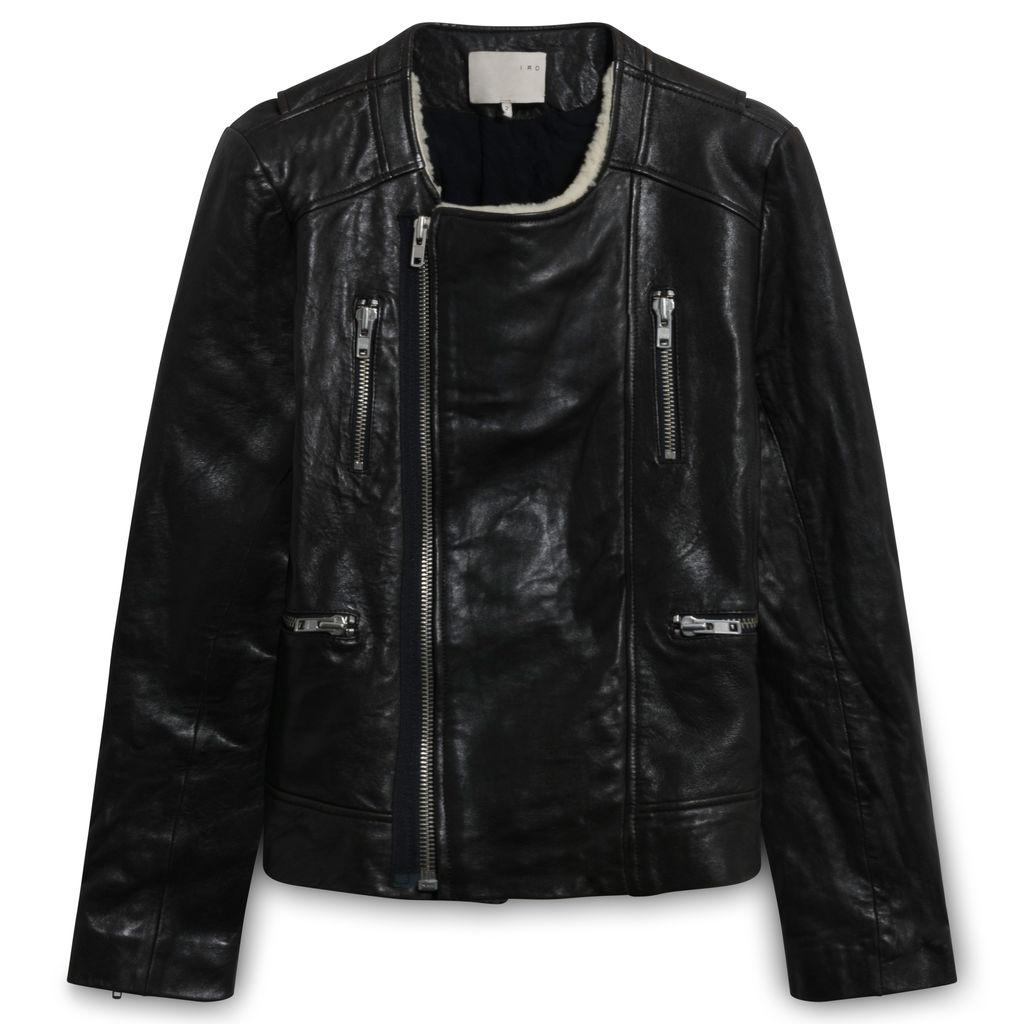 Iro Svea Leather Jacket with Shearling