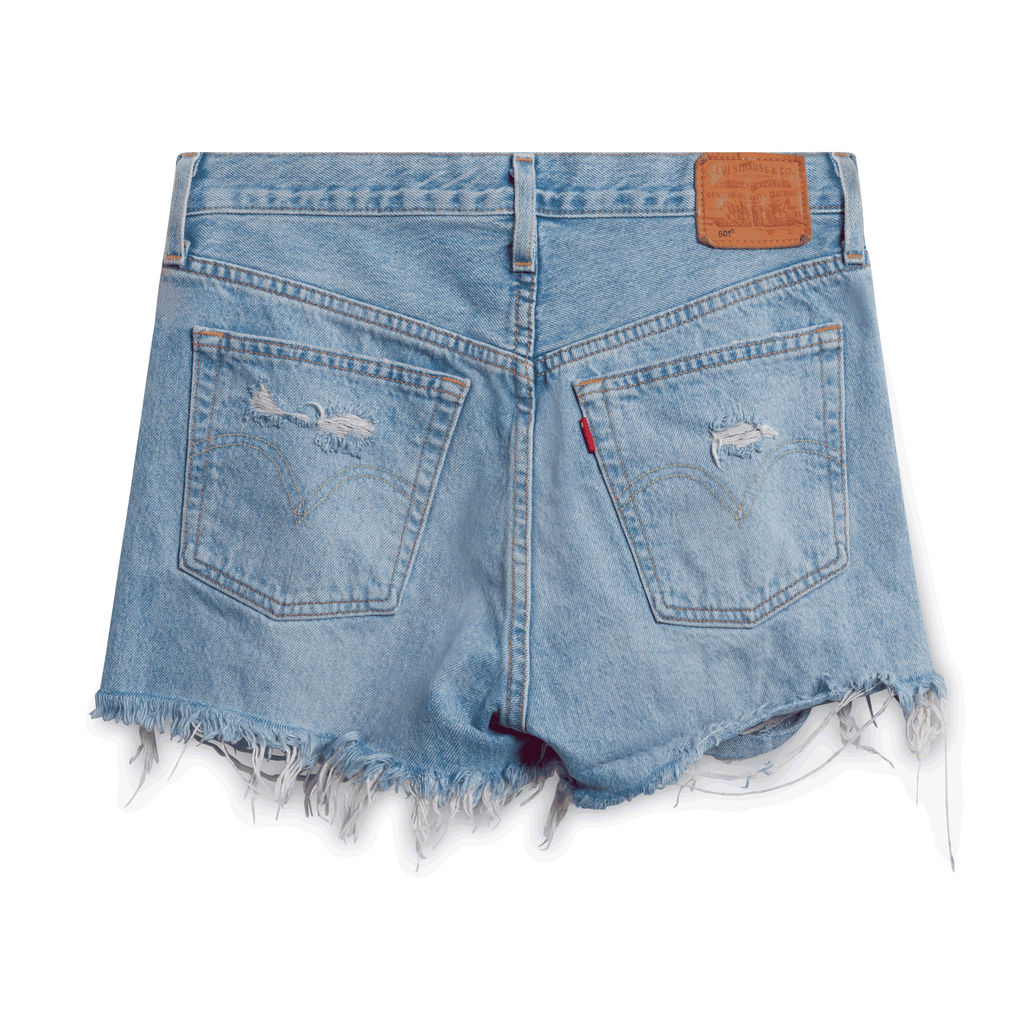 Levi's 501 High-Waisted Denim Short Fault Line - Denim Light