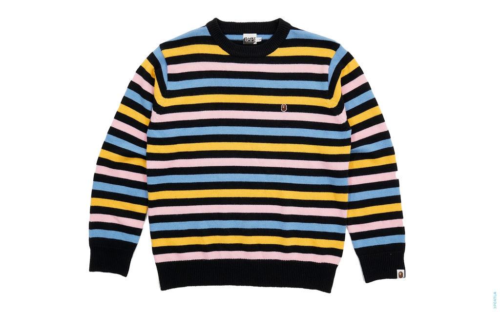 BAPE Milo Cotton Candy Border Knit Sweater