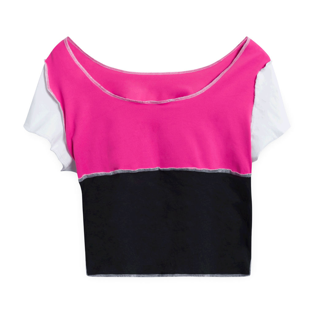 JJVintage Reworked Champion Short-Sleeve Crop top - Pink/Black