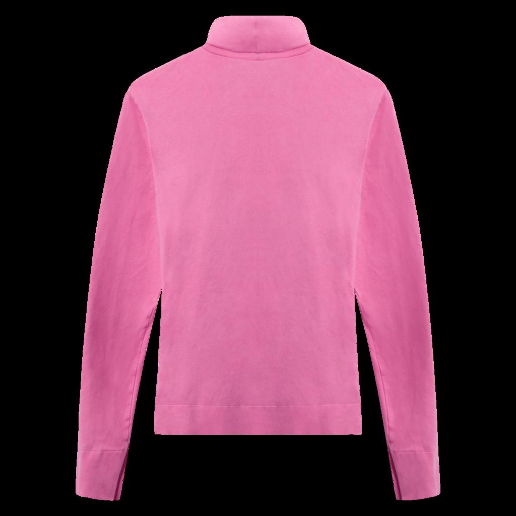 Calvin Klein 205W39NYC Fuschia Embroidered Cotton-Jersey Turtleneck Top