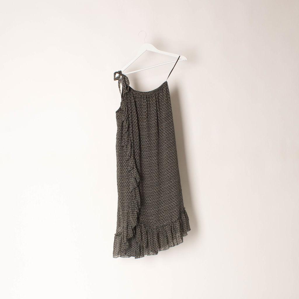 Isabel Marant Aiden One Shoulder Printed Dress