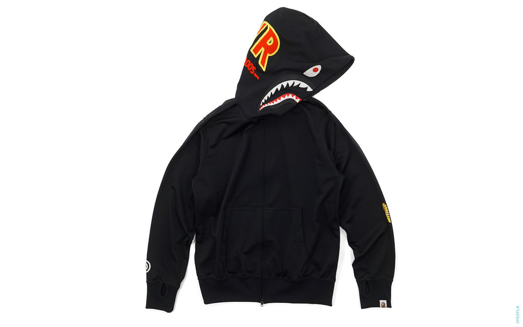 Chain Stitch PONR Track Suit Shark Full Zip Hoodie black
