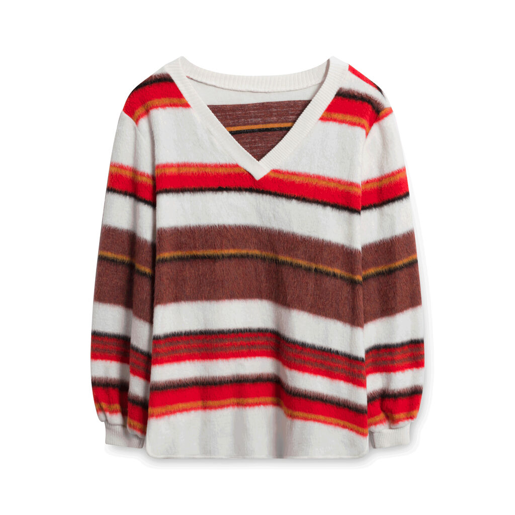 Multicolored Striped Sweater