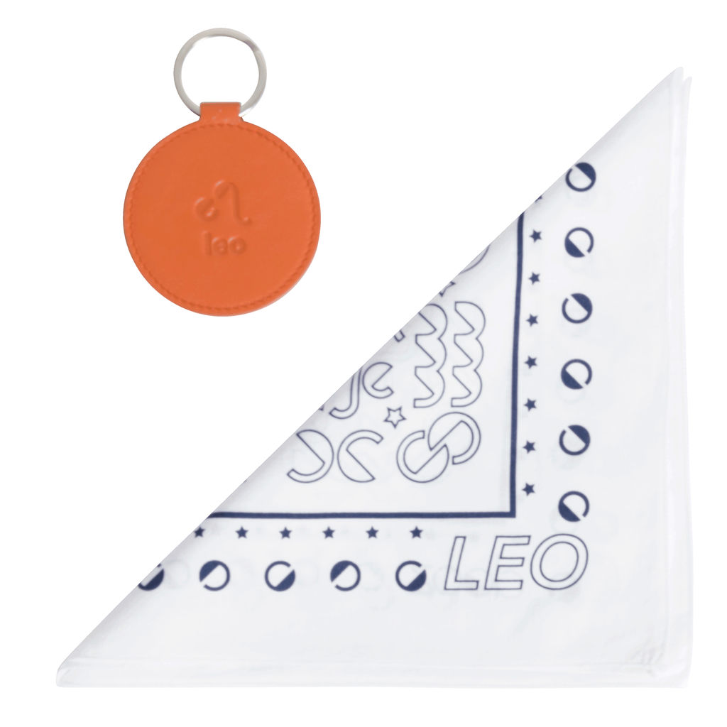 DOOZ Leo Bandana + Keychain Set in White