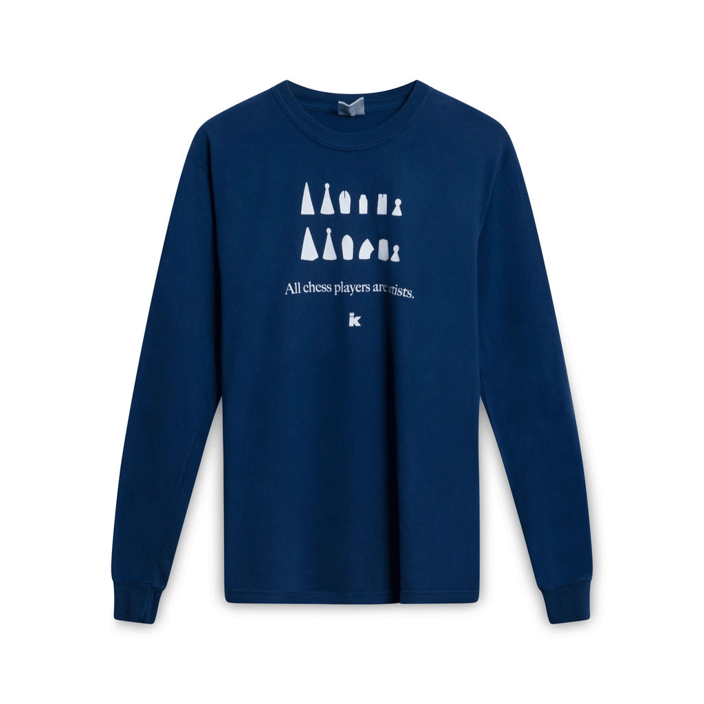 All Chess Players are Artists Long-Sleeve - Navy