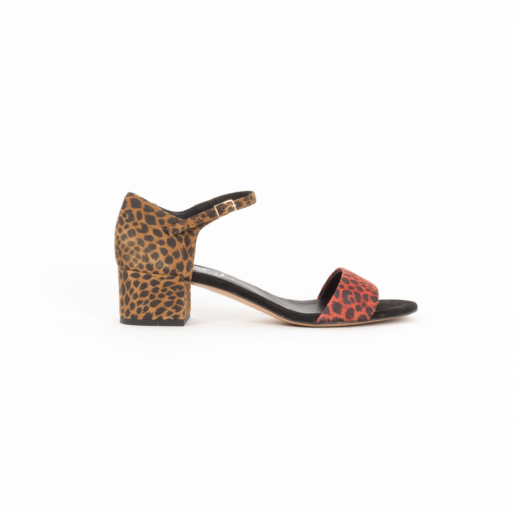 Attilio Giusti Leombruni Leopard Heeled Sandals